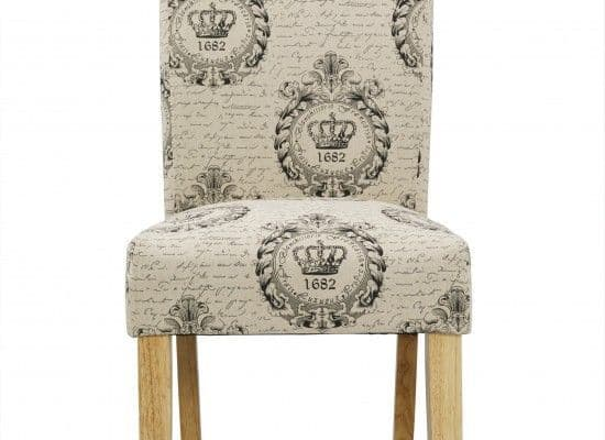 Nanterre Regal Syle Fabric Set Of 2 Dining Chairs 17LD453